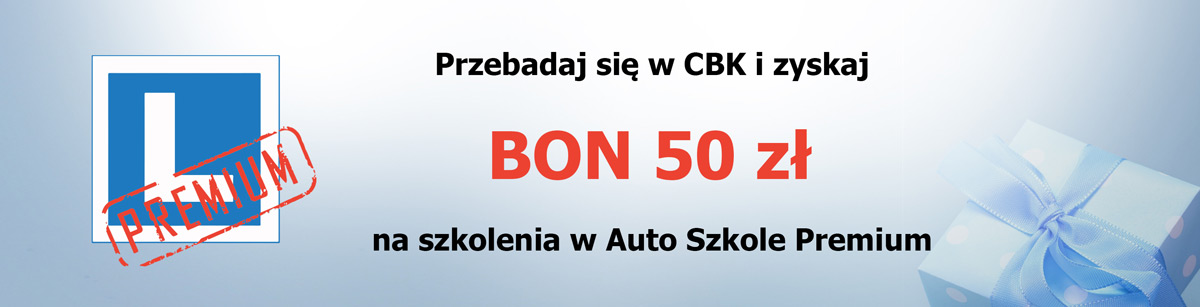 Bon na 50 zł Autoszkoła Premium